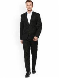 Hangup Men Black Single-Breasted Formal Suit