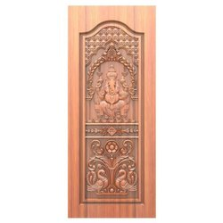 Carved Ganesha Wooden Door, For Home,Hotel etc