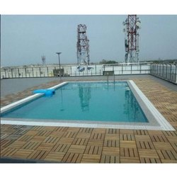 Blue Fiberglass and Liner Prefab Swimming Pool, 2.5 To 4.5 Feet