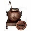 Smokey Copper Hammered Mughlai Soup Mutka