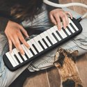 32 Key Melodica Musical Instrument With Carry Bag Black