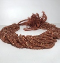 Natural AAA Sunstone Faceted Rondelle Beads 4mm