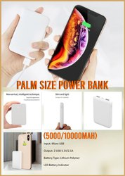 Palm Size Power Bank 5000 mAH