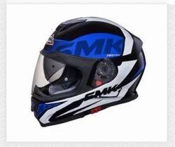 Blue Smk Twister(logo) Matte Black White Logo , Size: XL