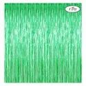 Poly Plain Green Foil Curtain For Party And Decoration, Length: 3*6