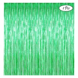 Green Foil Curtain For Party And Decoration