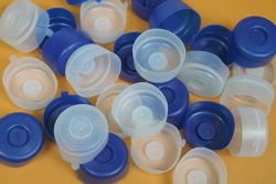 White And Blue Plastic Cap