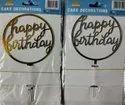 Regular Acrylic Cake Topper