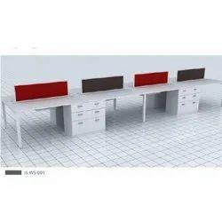 IS-WS-001 Linear Open Office Workstation