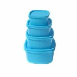 Firefork Sky Blue Plastic Food Container