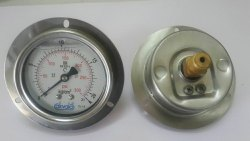 Back Flange mount pressure gauge