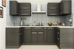 U Shape Aluminium Modular Kitchen, Warranty: 1-5 Years