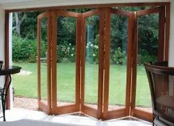 Clear And Toughened Glass UPVC Folding Door