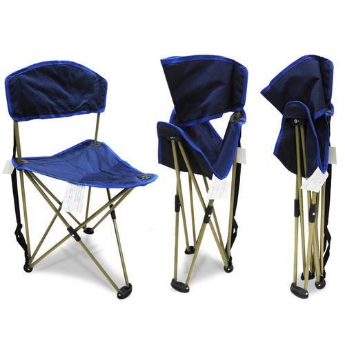 Kawachi Outdoor Portable Camping Tripod Folding Chair With Backrest
