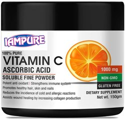 Pure Raw Vitamin C Plain Ascorbic Acid Powder, 100 % Pure, Iampure Ingredients Chennai