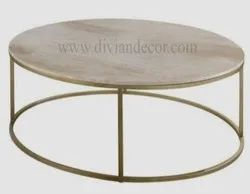 Round Center Metal Table
