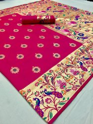 Cotton Festive Wear Paithani Sarees- Karigari Silk