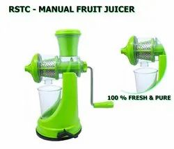 Green Rstc Manual Fruit And Vegitable Juicer With Still Handle