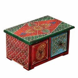 Horizontal Embossed Wooden drawer Box