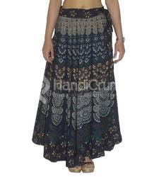 5ecc6616239 Multicolor Printed Indian Wrap Around Women Mandala Cotton Rapron Long Skirt