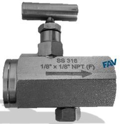 FAV SS 316 Flow Control Valve with Tee Handle