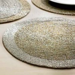 Beaded Placemats Lunch Mat Dining Table Mats Glass Seed Beads
