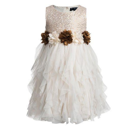 4c459f98b1 Sleeveless Polyester And Net Long White Dresses For Kids