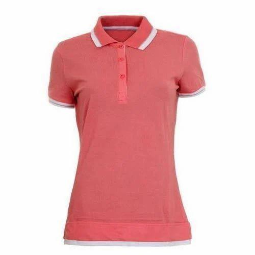 474856c5 Ladies Half Sleeve Plain Polo T Shirt, Size: S - XXL, Rs 380 /piece ...