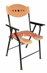 Albio Commode Chair of U-Cut With Handle Folding -Deluxe