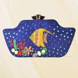 Beautiful Designer Box Clutch Bag