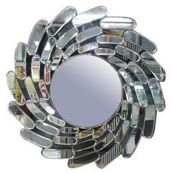Designer Round Glass Mirror