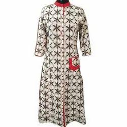 Vaasav Cotton Ladies Casual Printed Full Sleeve Kurti, Size: S-XXL