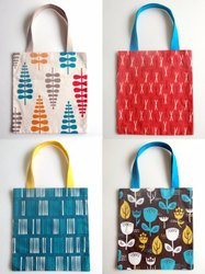 Loop Handle Available cotton ladies hand bag, Size/Dimension: small