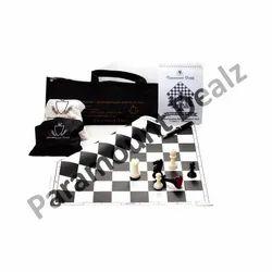 Tournament Black Chess Board Set, Packaging Type: Box