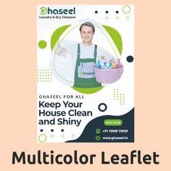 Gloss Or Matt Multicolor Leaflet Printing Service