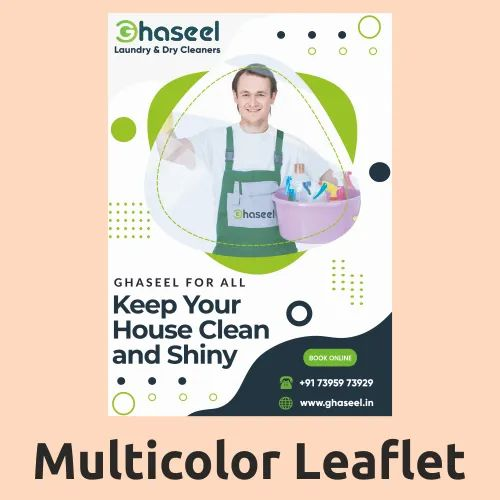 Multicolor Leaflet Printing Service