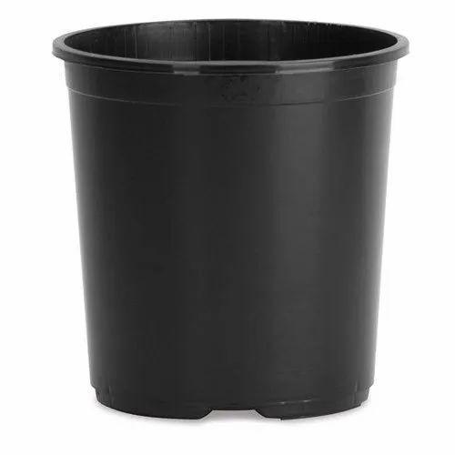Round Plastic Black Nursery Planter