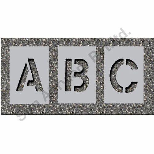 Alphabet Stencil Metal Numerical Stencils Manufacturer