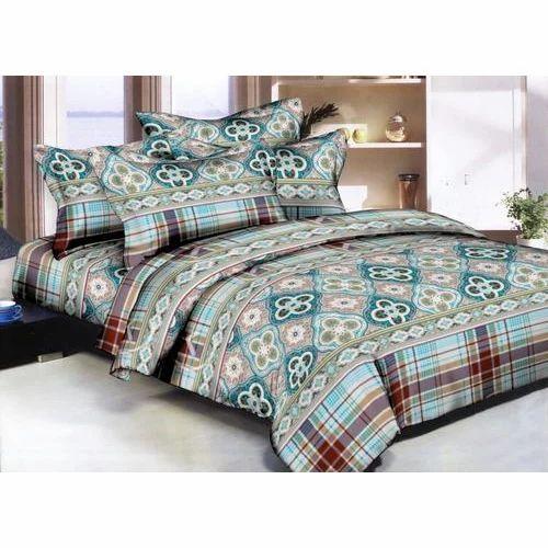 Royal Look Printed Silk Bed Sheet Set