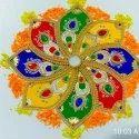 Multy Colour Kundan Rangoli