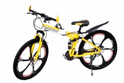 Yellow Color 6 Spokes Foldable Cycle