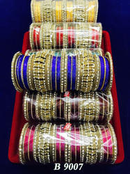 Colorful Bridal Bangles in Metal