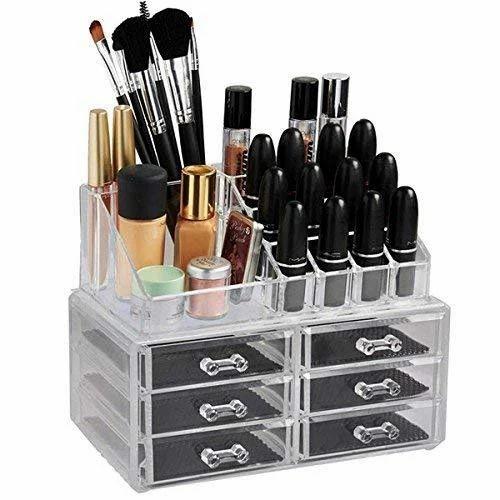 5386816b574b Cosmetic Organizer Cum Jewelry Box With 6 Drawers