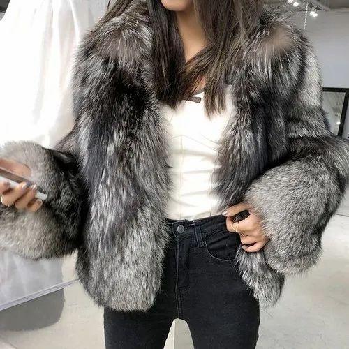 Cotton Men Faux Fur Jacket Size Xl, Faux Fur Coat Company