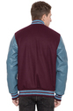 Men Leather Varsity Jacket