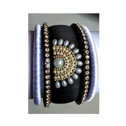 Stylish Silk Thread Bangle Set