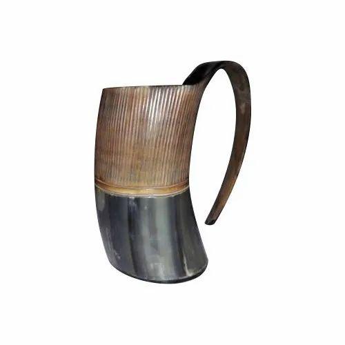 Drinking Horn Mug, Round