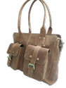 Front Pocket Designer Leather Handbag