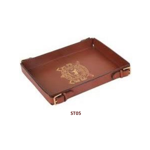 Brown Leather Serving Tray Rs 420