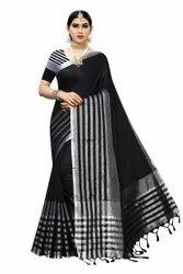Desiner Linen Blend Saree